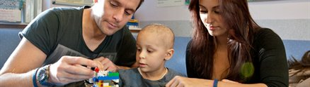 A young patient at the Children's Brain Tumour Research Centre