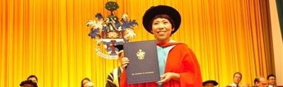 DengYaping honorary doctorate