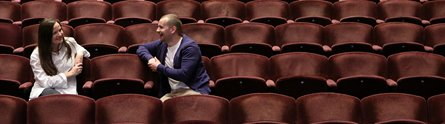 Kirstie MacDonald and Mark Christian from Laughing Matters