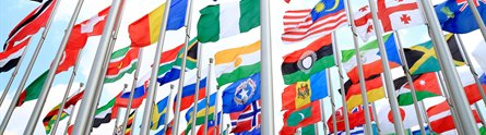 Flags from around the globe