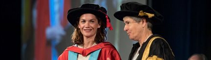 Ruth Wilson receives her honorary degree