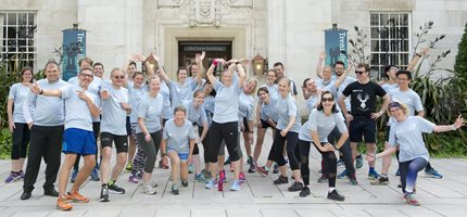 University runners go the extra mile for children's brain tumours
