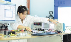 Electrical and Electronic Engineering - Female postgraduate student using a Supercapacitor, Malaysia Campus (11067)