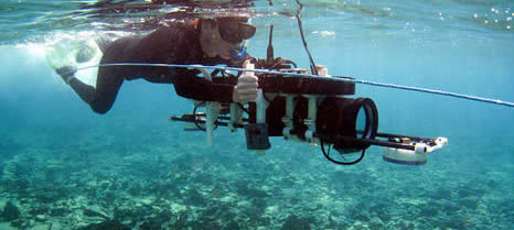 Recording the site in 2010 using the stereo-photogrammetric diver rig