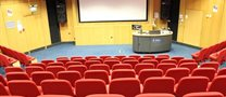 lecture theatre prepared for the lecture