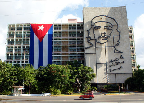 Image courtesy of Creative Commons: https://en.wikipedia.org/wiki/Politics_of_Cuba#/media/File:Ministry_of_the_Interior_of_Cuba_with_flag.jpg