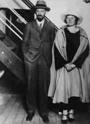 With Frieda on board SS Resolute, c.1925