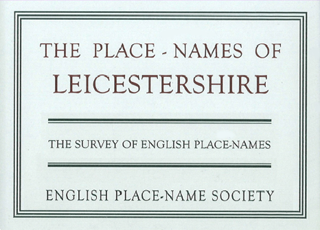 The Survey of English Place-Names - publishe volumes