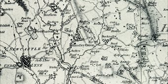 Yates 1775 map of Staffordshire