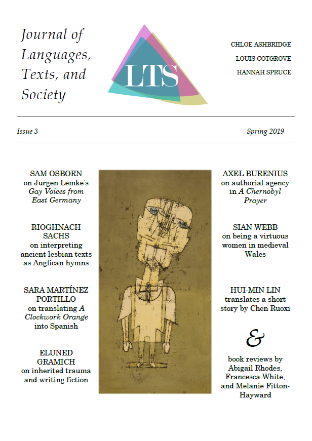Journal of Languages Texts Society Issue 3 front cover
