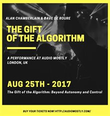 """The Gift of the Algorithm: Beyond Autonomy and Control"" - Software developed by David De Roure"