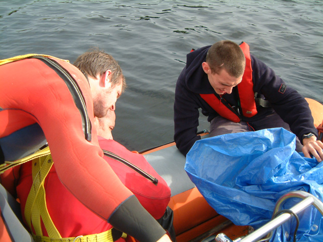 Sidescan survey on Loch Glashan