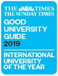 The Times and The Sunday Times Good University Guide 2019 - International University of the Year award