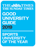 The Times and The Sunday Times Good University Guide 2019 - Sports University of the Year award