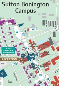 Sutton Bonington Campus Map Sutton Bonington   The University of Nottingham