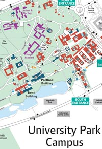 Image of the University Park Campus Map