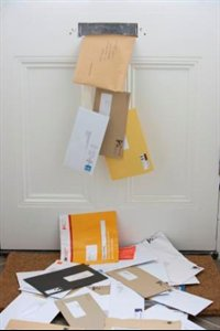 Bills falling through the letter box