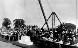 Laying of the foundation stone of Trent building