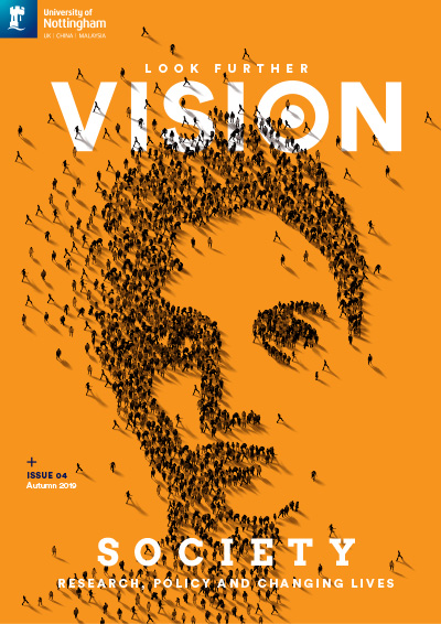 Vision magazine front cover - Issue 4, Autumn 2019