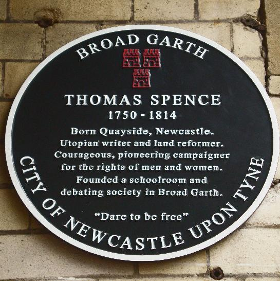 Thomas Spence plaque