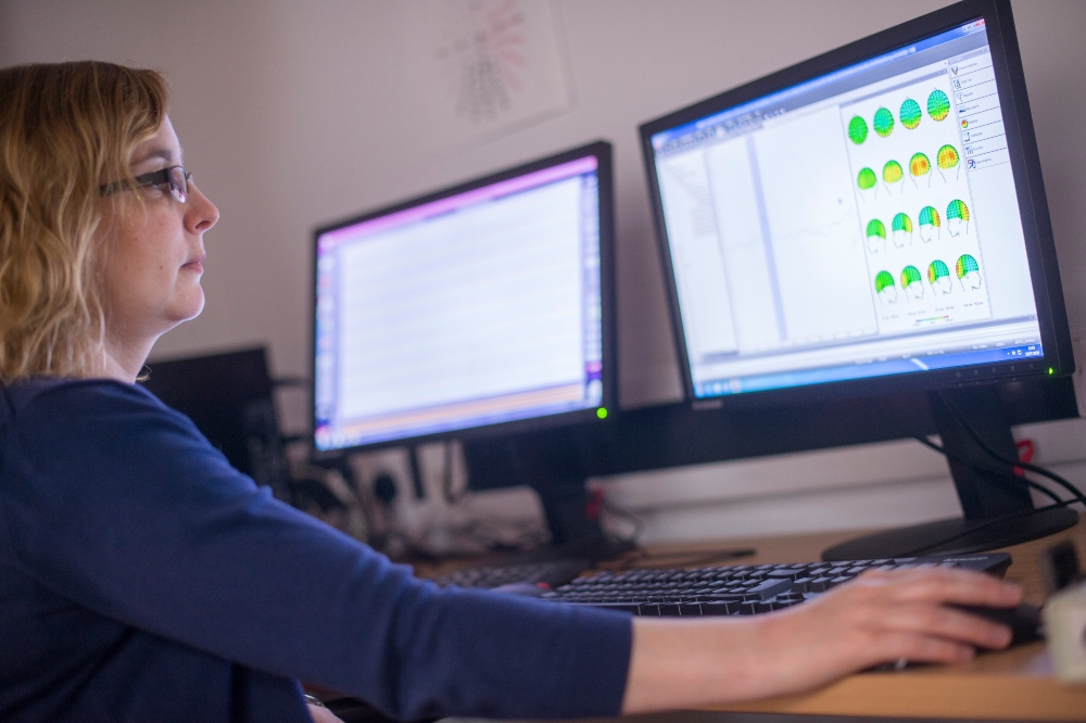A research fellow working on Jubilee Campus