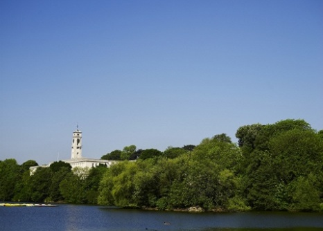 Trent building from lake