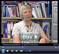 "ePioneers video: ""Barriers to e-learning uptake."" Duration: 3 minutes : 6 seconds"