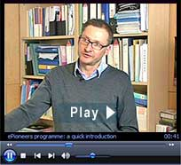 "ePioneers video: ""E-learning mentor as implementation advisor."" Duration: 2 minutes : 42 seconds"