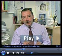 "ePioneers video: ""Normalising e-learning."" Duration: 4 minutes : 5 seconds"