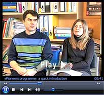 "ePioneers video: ""Quick gains in e-learning."" Duration: 3 minutes : 2 seconds"