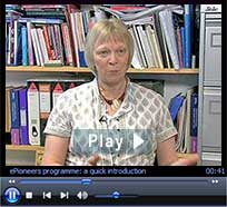 """ePioneers video: """"Taking ownership: building School e-learning capacity."""" Duration: 3 minutes : 34 seconds"""