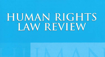 cover of the human rights law review