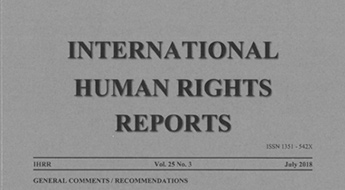 cover of the international human rights reports