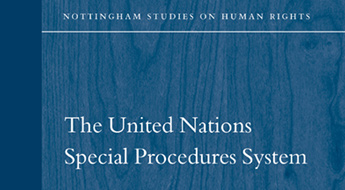 cover of the Nottingham studies of human rights