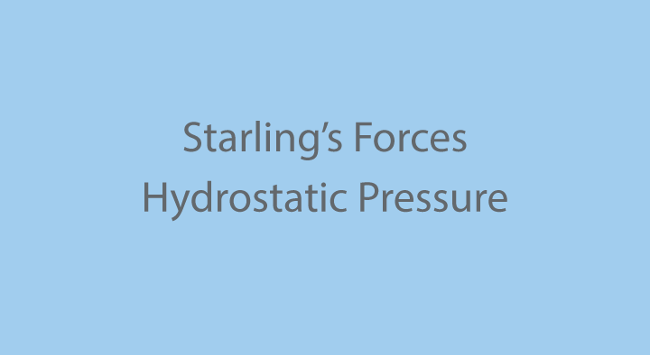 RLO: Starling's Forces: Hydrostatic Pressure