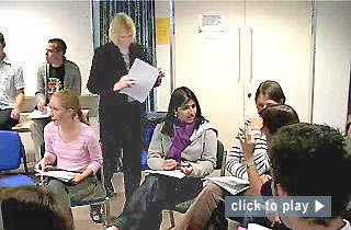 "Teaching at Nottingham video: ""Monitoring small groups in large groups."" 1 minute : 31 seconds"