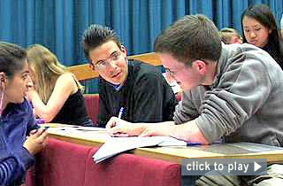 """Teaching at Nottingham video: """"Questions and activities in lectures."""" 4 minutes : 5 seconds"""