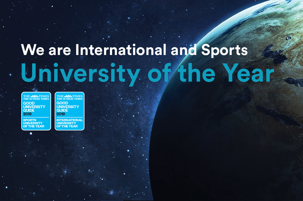 We are International and Sports University of the Year