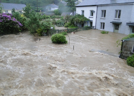 Flooding in Talybont, Wales, 2012, © Henry Lamb