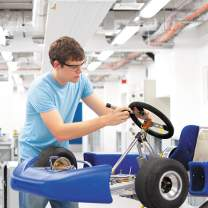 Student working in the aerospace centre