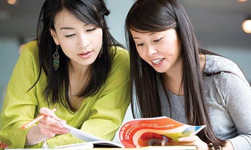Students preparing for IELTS
