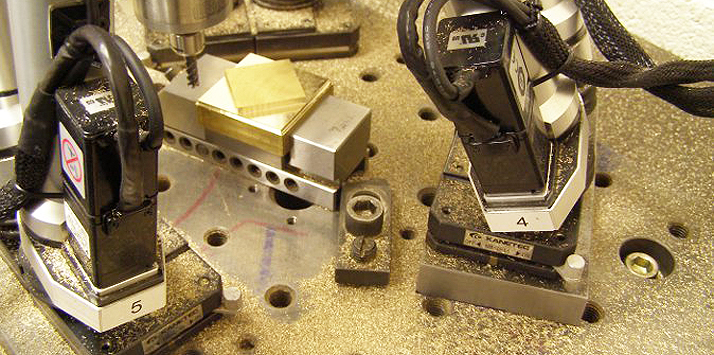Miniture hexapod machine tool in operation