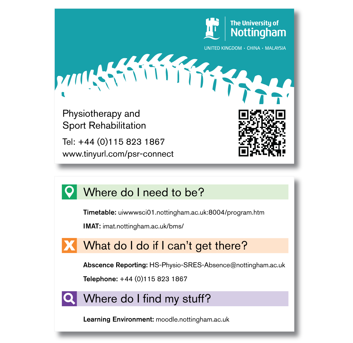 Physiotherapy Information Cards