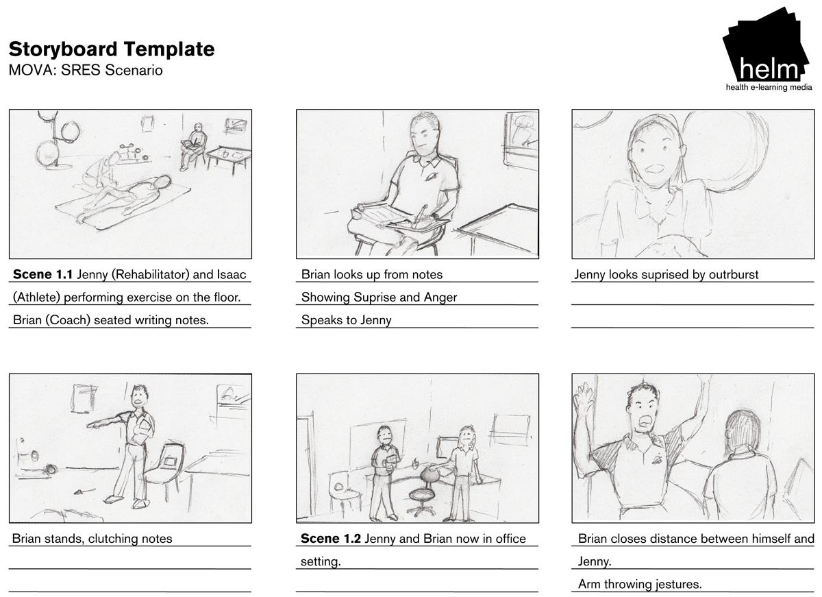 Sport Rehabilitation storyboard part 1
