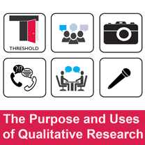 THRESHOLD The Purposes and Uses of Qualitative Research