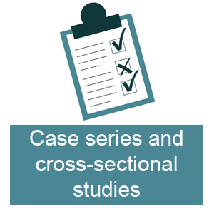 Case series and cross-sectional studies