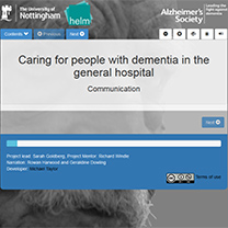 Caring for people with dementia in the general hospital - Communication